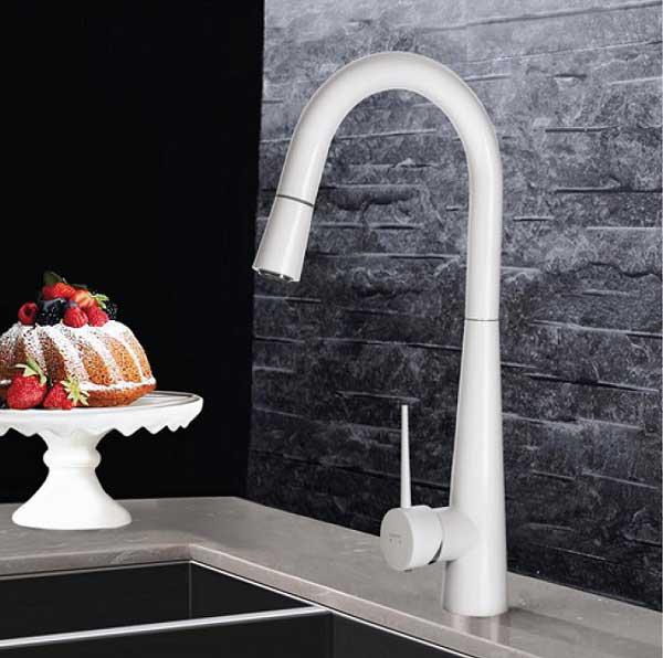 شیر ظرفشویی شلنگدار سفید ادرینا مدل مانیسا