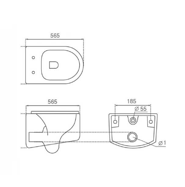 فروش توالت وال هنگ Bathco مدل UF/4529